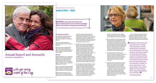 Asthma UK Annual Report and Accounts